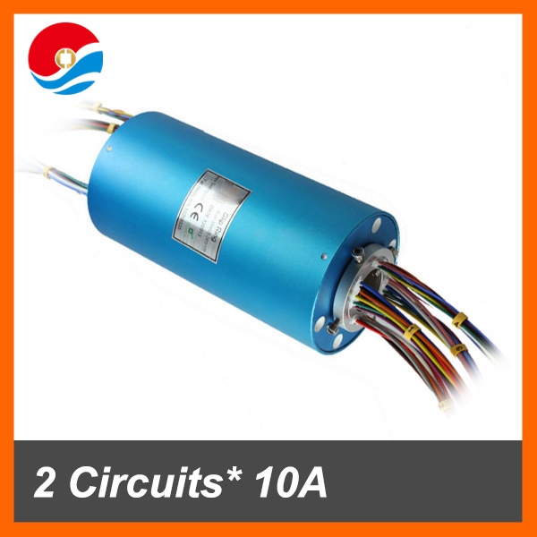 Electrical slip ring assembly 24 circuits 10A+12 circuits signal of hole size 12.7mm