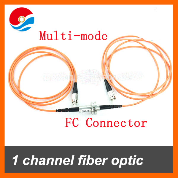 Multimode 1 Channel Fiber Optic Rotary Joint / FORJ of slip rings with FC Connector