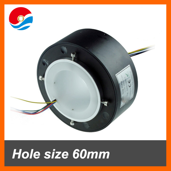 large hole size 60mm 2wires/circuits10A of through bore slip ring