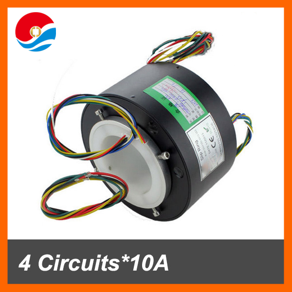 Slip ring electrical connector bore size 60mm 10 circuits of through bore slip ring